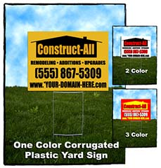 Corrugated Jobsite Signs