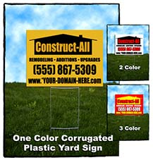 Single Sided Corrugated Yard Signs